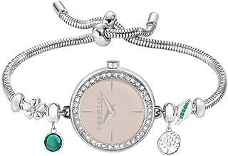 """MORELLATO""""Drops"""" Reloj de cuarzo de acero inoxidable de moda para mujer, color: tono plateado (Modelo: R0153122591)"""