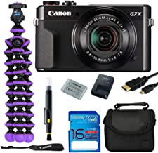 Canon PowerShot G7 X Mark II 20.1MP Digital Camera Bundle Kit with Spider Tripod and 16 GB Memory Card