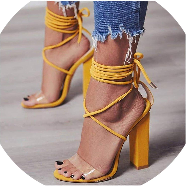 QianQianStore Women Pumps High Heels Sandals PVC Transparent Heels Wedding shoes Casual Waterproof Sandalia