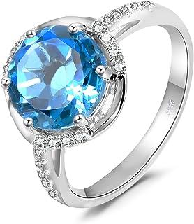 f5bbf85427f2c4 JewelryPalace Moda Donna Gioiello Ametista Swiss-Topazio Spinello  Alessandrite Zaffiro Rubino Peridoto Anello in Argento