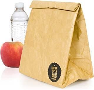 Brown paper bag insulated lunch bag by The Design Gift Shop
