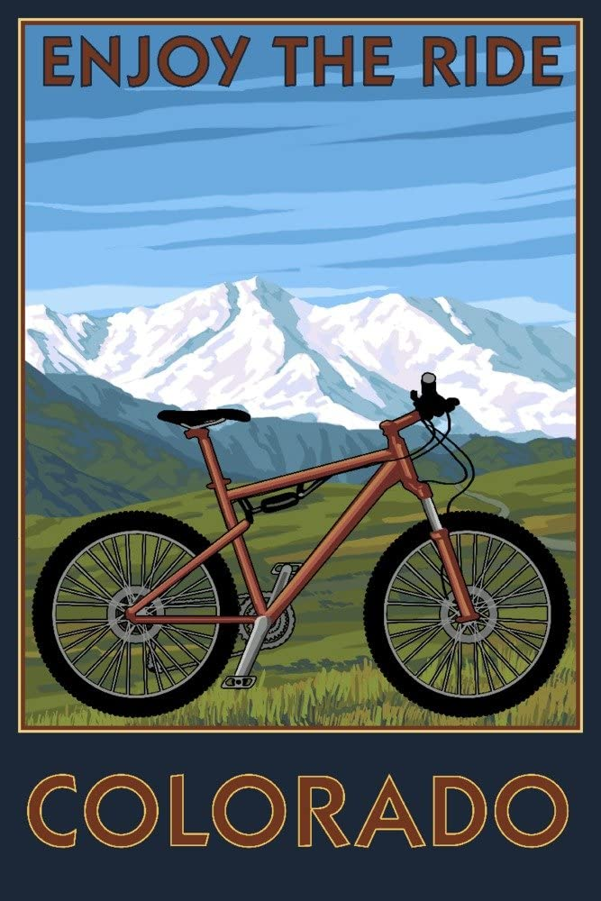 Max 59% OFF Colorado Enjoy the Ride Mountain Recommended Pr Bike 24x36 Gallery Giclee
