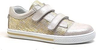 Hakiki Deri Altın Rengi Cırtlı Kız Çocuk Günlük Spor Ayakkabı