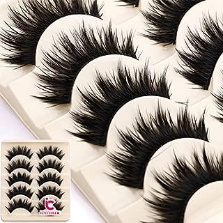ICYCHEER Thick 5 Pairs Makeup Natural False Eyelashes Eye Lash Long Black Handmade Soft