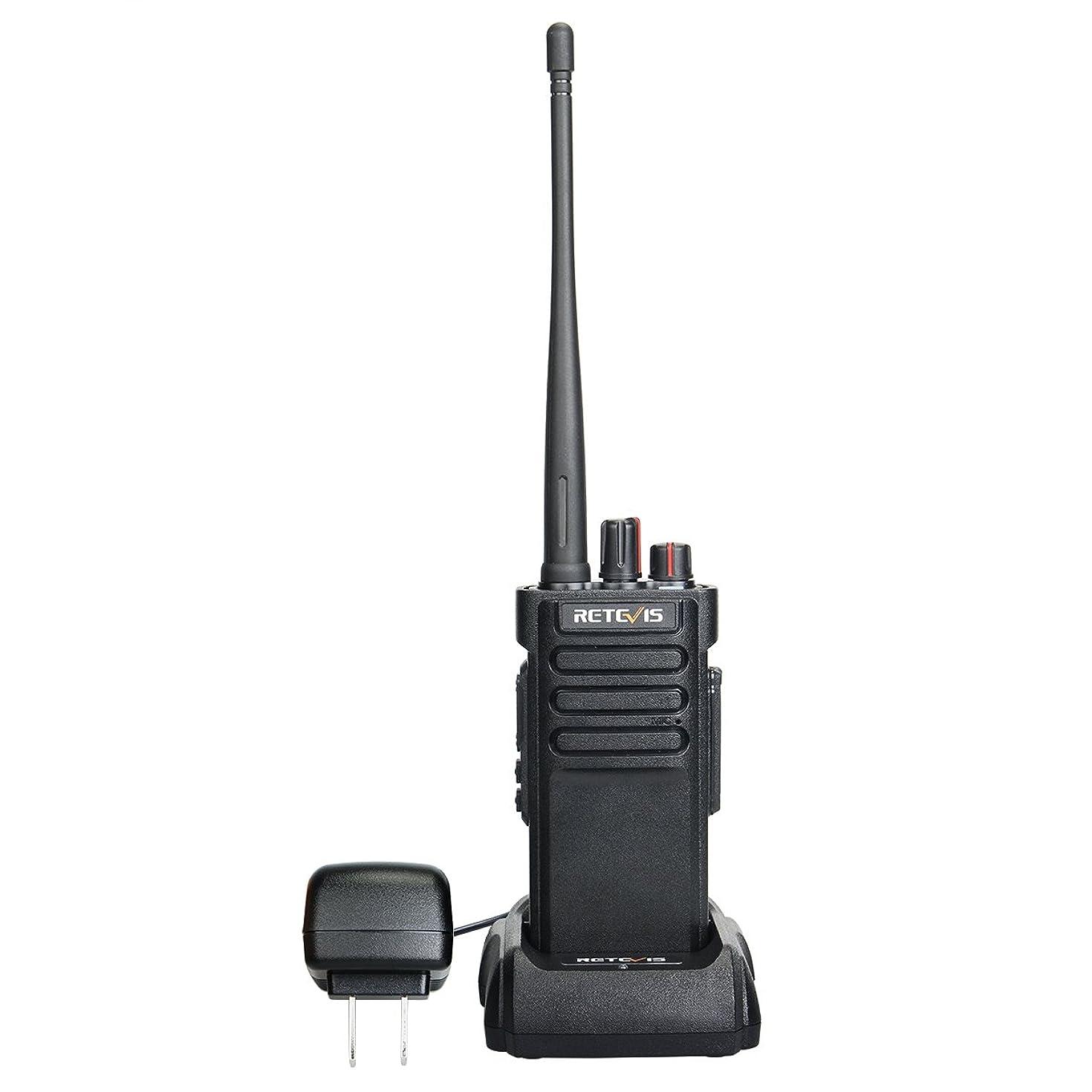 Retevis RT29 Waterproof Walkie Talkies UHF 3200mAh Long Range Two Way Radio(Black, 1 Pack)
