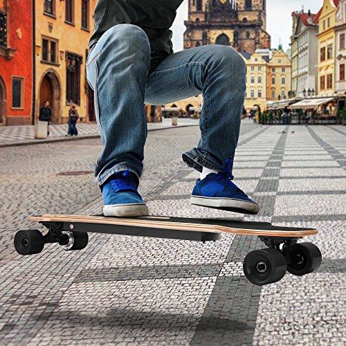 Aceshin 35.4' Electric Skateboard with Remote Control for Adults Teens Youths 250W Dual Motor 20KM/H Top Speed 10 KM Range Longboard 7 Layers Maple Waterproof IP54 E-Skateboard