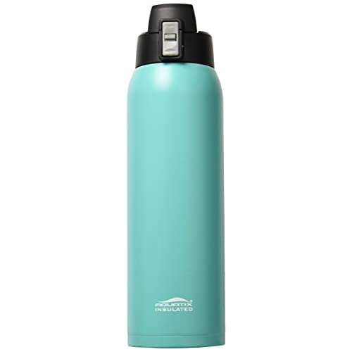58ab681d08 Aquatix (Turquoise, 32 Ounce) Pure Stainless Steel Double Wall Vacuum  Insulated Sports Water