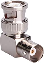 BNC 90 ° grados adaptador de ángulo recto acoplador coaxial conector hembra a macho de enchufe, cables coaxiales SDI, adap...