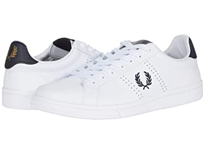 Fred Perry B721 Leather (White/Navy) Men