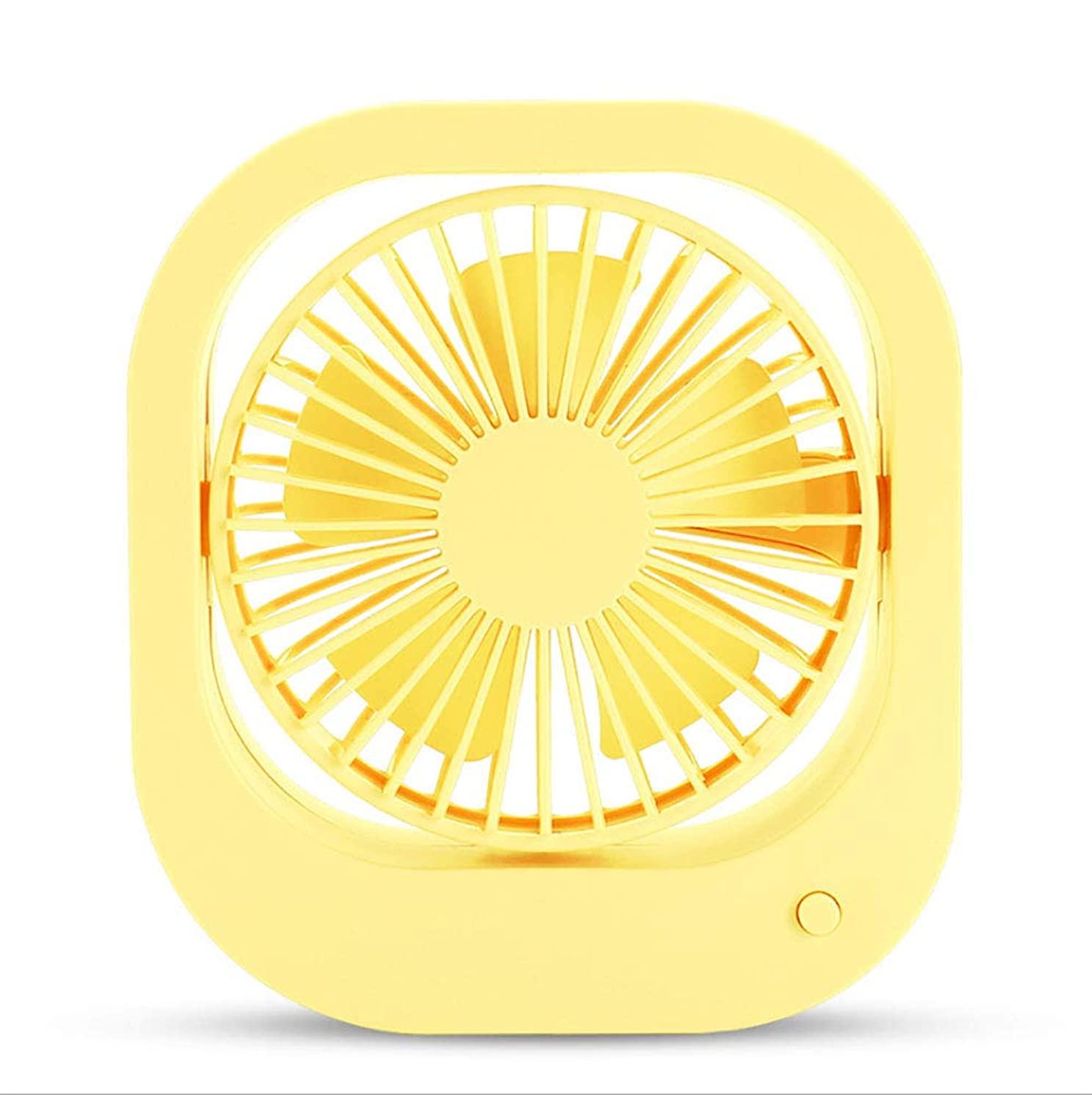 liangxuemei Mini Desktop Small Fan Student Dormitory Portable Mute USB Inline Battery Dual Purpose-Yellow