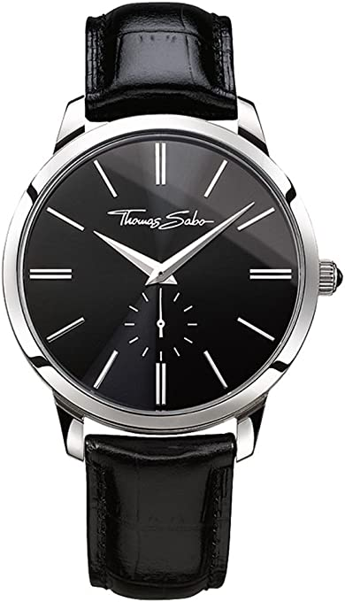 THOMAS SABO Men's TWA0150 Year-Round Analog Quartz Black Watch