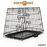 COZY PET Deluxe Car Dog Cage, Fits: Audi, BMW, Fiat, Ford, Hyundai, Jaguar, Kia, Range Rover, Mercedes-Benz, Mini, Nissan, Peugeot, Seat, Toyota, Vauxhall, Volkswagen, Volvo, Etc Puppy Crate: CDC01