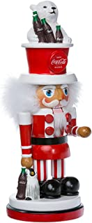 Kurt Adler Coca-Cola Hollywood Nutcracker with Polar Bear Hat, 15-Inch