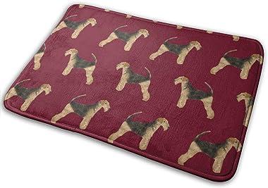 Airedale Terrier Dog Cute Dogs Neutral Sewing Dog - Ruby_17719 Doormat Entrance Mat Floor Mat Rug Indoor/Outdoor/Front Door/B