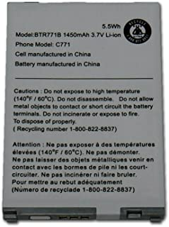 New 1450 mAh Replacement Battery for Casio G'zOne Commando C771 - BTR771B - BELTRON