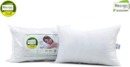 Recron Certified Dream Fibre Pillow - 41 cm x 61 cm, White, 2 Piece