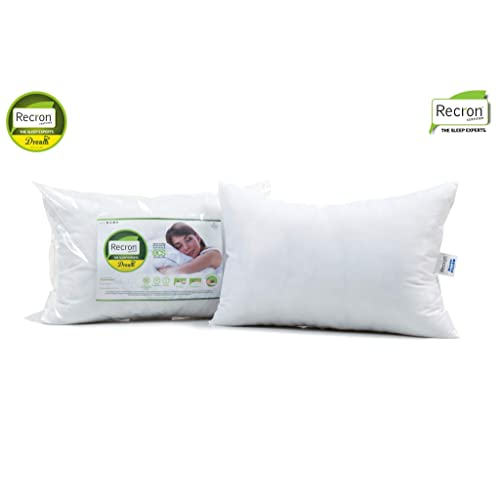 Recron Certified Dream Fibre Pillow - 41 cm x 61 cm, White, 2 Piece