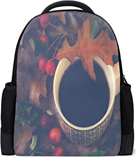 Backpack Coffee Cup Personalized Shoulders Bag Classic Lightweight Daypack for Men/Women/Students School
