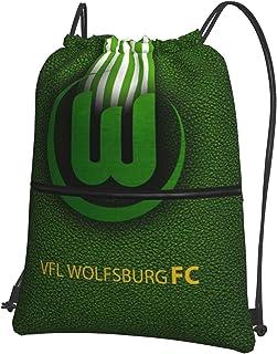 V-FL Wolf-Sburg Fc Bedruckte Sporttasche Sporttasche Reisetasche Schuhtasche Rucksack Einkaufstasche Kordelzug ReiVerschluss Rucksack
