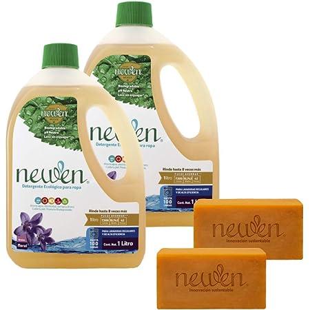 Paquete Newen: 2L detergente para ropa + 2pz Borrador de Manchas