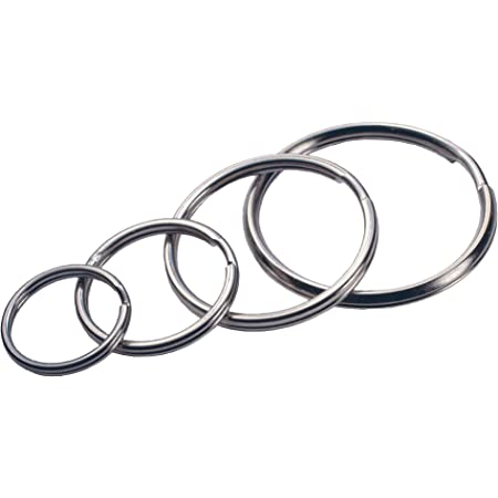 Hillman 701288 Assorted Split Key Rings Package, Silver Metallic, 4 Pack