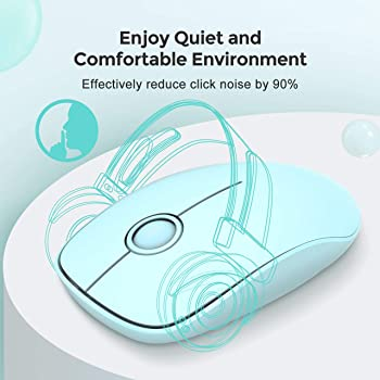 VicTsing [Upgraded] Slim Wireless Mouse, 2.4G Silent Laptop Mouse with Nano Receiver, Ergonomic Wireless Mouse for La...