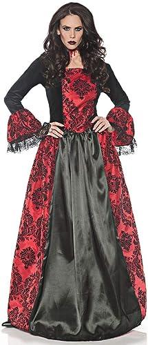 Horror-Shop Gothic Vampirin Kleid für Halloween & Karneval   S-XL XL