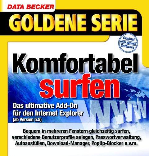SurfGenie, CD-ROM Mehr Komfort für den Internet Explorer. Für Windows 98/98(SE)/ME/NT4(SP6)/2000/XP mit Internet Explorer ab 5.5