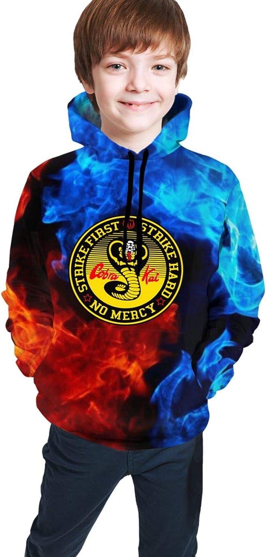 Cobra-Kai Teens Sweatshirts 3D Youth Hoodies Casual Boys Pullover Hoody Sweatshirt Girls Hooded Sweater
