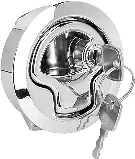 ZHANGHONGWEI Pull Door Lock Zinc Alloy Car Round Pull Door Lock Refitting Fit for RV Cabinet Bathroom Door