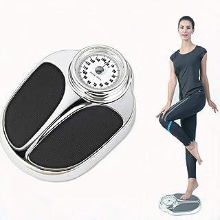 HXZ Báscula mecánica de Puntero de precisión Negra, báscula de Salud doméstica, báscula de baño compacta, Antideslizante/a Prueba de Humedad, 160 kg