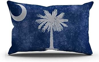 DECOPOW South Carolina State Flag Pillow Cover, South Carolina Flag Throw Pillow Covers 12 X 20 Inches by South Carolina(1220)