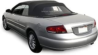 Sierra Auto Tops Convertible Soft Top Replacement, Chrysler Sebring 1996-2006, w/Plastic Window, Sailcloth Vinyl, Black
