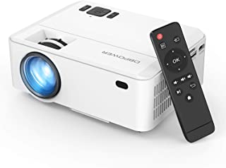 Projector, Upgraded DBPOWER Mini Video Projector, Multimedia Home Theater Video Projector Supporting 1080P, HDMI, USB, VGA...