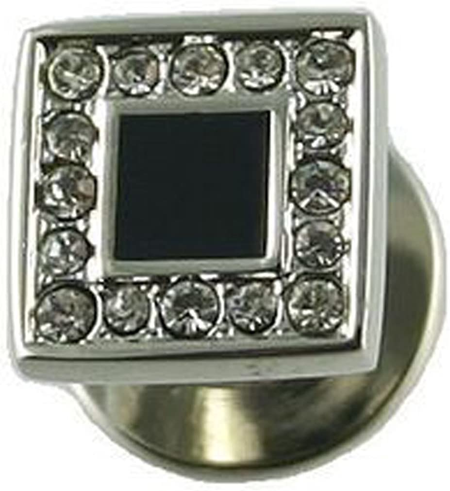 Select Gifts Square Crystal Dress Studs in Black Box
