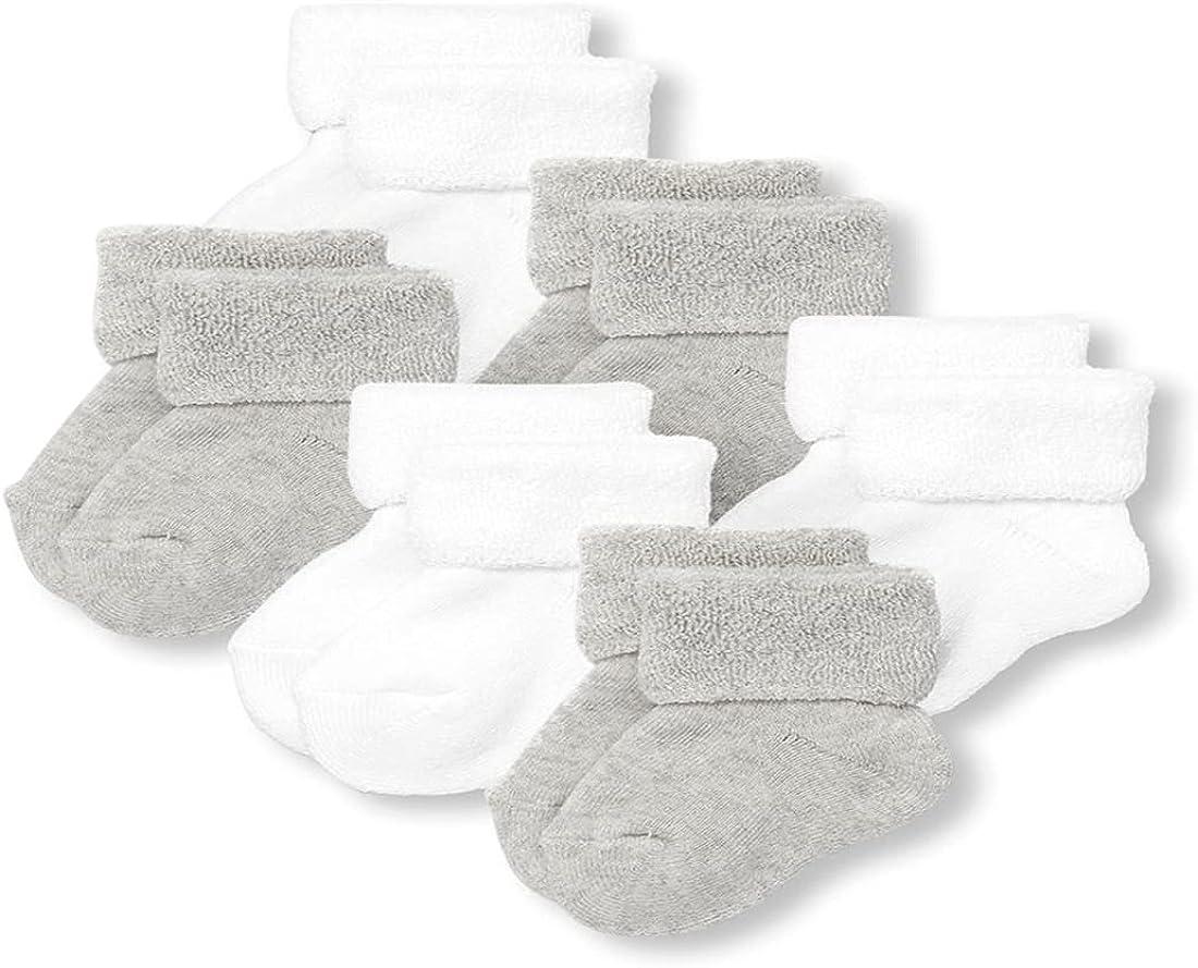 The Children's Place Baby Newborn Socks, Pack of Six, Multi CLR, 12-18MOS