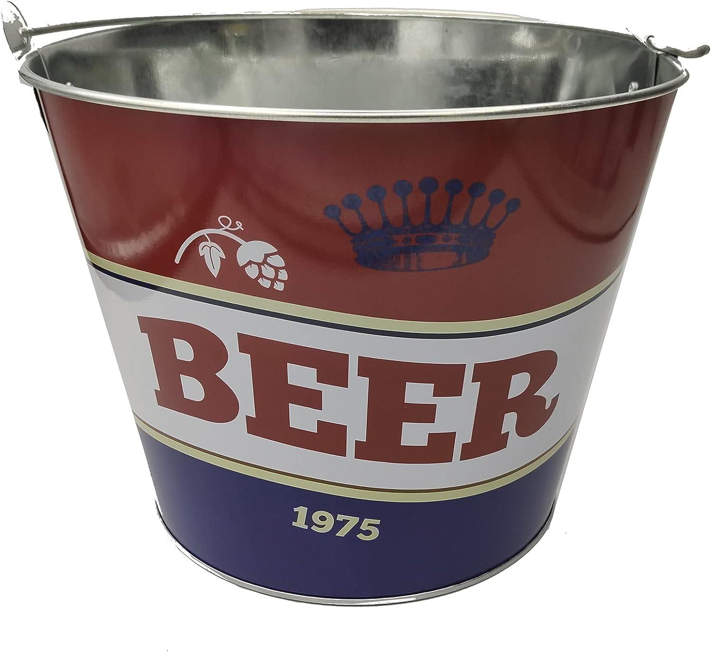 EUROXANTY Cubo para Cervezas   Cubitera Metálico para Botellines y Bebidas   Estructura Fuerte y Resistente   Material Inoxidable   Tricolor  