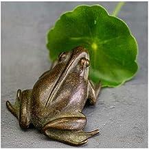 Decoration, Copper Frog Decoration, Solid Copper Big Frog Incense Antique Copper Frog, Tea Pet Toad Copper Frog Desktop De...