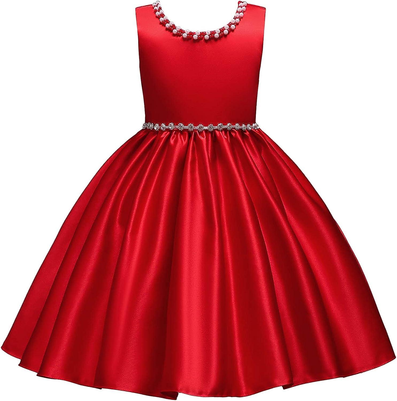 aibeiboutique Little Girl Tutu Flower Petals Bow Dress Chiffon Princess Dresses for Wedding Party