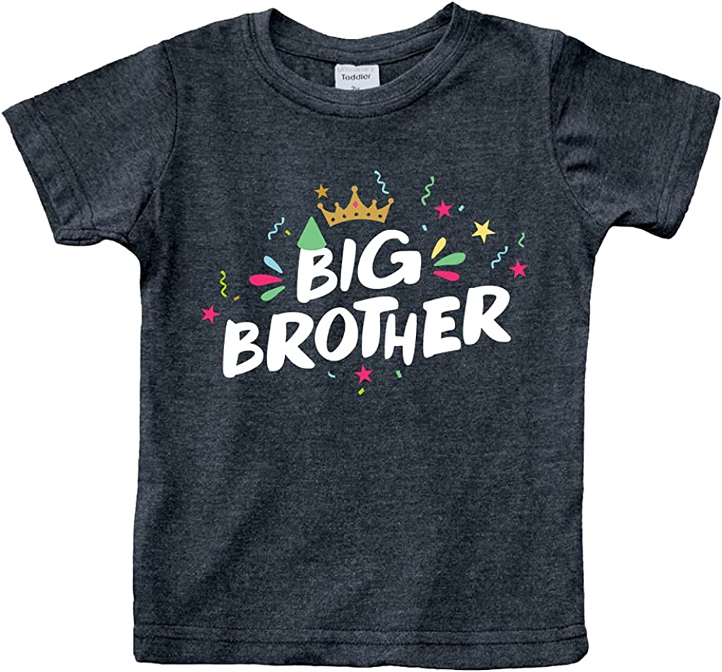 Big Brother Shirt for Toddler boy Crown Promoted to Big bro Announcement Outfits