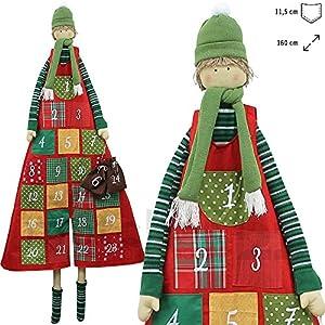 Wunderschöner XXL Adventskalender zum Befüllen 160 cm zum Aufhängen Große Taschen Junge