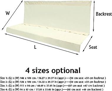 LFOZ 2/3 Seat Waterproof Swing Cover Chair Bench Replacement Patio Garden Outdoor Waterproof UV Resistant Swing Seat Furnitur
