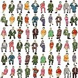 情景コレクション 人間 人形 人物 人間フィギュア 着席人 座っている人形 塗装人 1:87 60本入り 箱庭 装飾 鉄道模型 建物模型 ジオラマ 教育 DIY