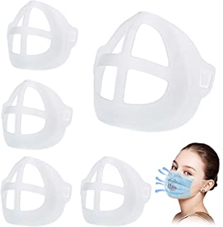 5 PCS 3D Face Mask Bracket, Inner Support Frame Made Of Soft Silicone Face Mask Holder For Comfortable Breathing Washable Reusable