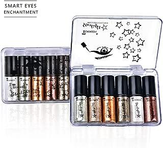 Simplylin6PCMetallic Glitter Glow Eyeshadow Comestics Lip Gloss Lasting Liquid Eye Shadow