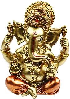 "BangBangDa 6.3"" H Resin Hindu God Statue Ganesh Figurine India Buddha Elephant Lord Ganesha Sculpture Indian Idol Religiou..."