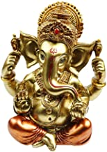 "BangBangDa 6.3"" H Resin Hindu God Statue Ganesh Figurine India Buddha Elephant Lord Ganesha Sculpture Indian Idol Religiou..."