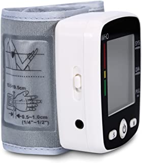 LTLGHY Tensiómetro De Muñeca, Tensiómetro Digital De Muñeca Totalmente Automático Presión Arterial Y Detección De Pulso Arrítmico Memoria (2 * 99)
