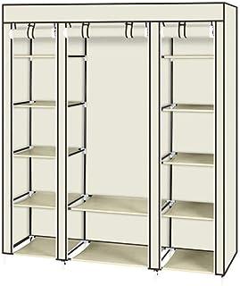 JHDDP3 Armoire Plate-Forme Non tissée Placard de Rangement Portable Armoire Anti-poussière mobilier d'humidité, 147x44x174cm