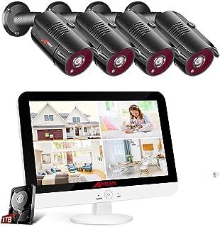 [Erweiterbar DVR Set] ANRAN 8CH 1080P Überwachungskamera Set 13 Zoll Monitor..